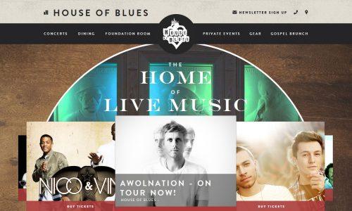House of Blues Website Snapshot