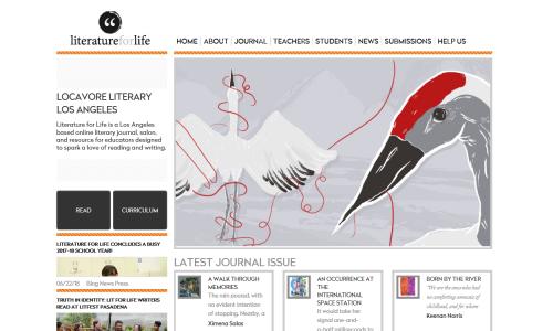 Literature for Life Website Snapshot