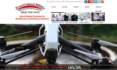 Round Island Media Website Snapshot