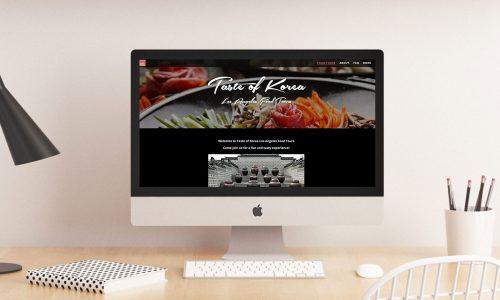 Taste of Korea LA Website Snapshot